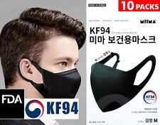 10 Packs KF94 BLACK Face Mask Made in Korea Medical Respirator Protective MIIMA