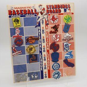 1970's  MLB Vintage LOT 20 Baseball MAGNETS w/ Standings Board