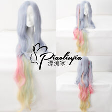 NO GAME NO LIFE Shiro 120cm Rainbow Clip Ponytail Cosplay Anime party Hair Wig