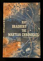 THE MARTIAN CHRONICLES  Ray Bradbury HCDJ 1950 First Edition BCE Sharp Copy!