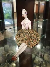 Vintage China Pincushion Doll Lady With Legs Very Old
