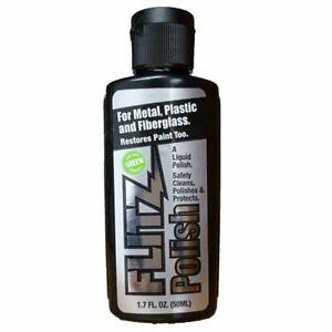 Flitz Liquid Metal Polish for Metal, Plastic, & Fiberglass 50 mL Bottle #LQ04502