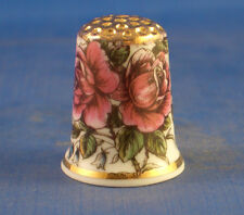 Birchcroft Thimble -- Gold Top Vintage Roses -- Free Gift Box