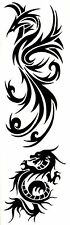 Dragon & Pheonix Temporary Fake Tattoos Mythical Strength Waterpoof Body Art