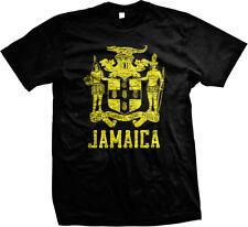 Jamaica Crest- Yellow- Jamaican Pride Ethnic Nationality  Mens T-shirt