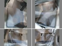 Stardiamond 3D All Weather Rubber Floor Mats 2004-2010 BMW X3 (E83) Black