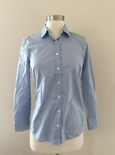 NWT JCREW $69.50 Petite stretch perfect shirt PXS 29938 pale Blue SP '17