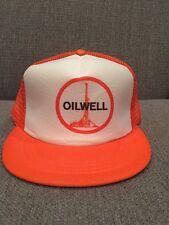 Vintage Oilwell Oilfield Trucker Hat Mesh Snap Back Oil Gas NOV Varco Orange