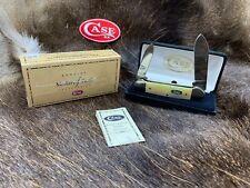 1998 Case XX Shield Canoe Knife Gold Lip Pearl Knife Mint In Velvet Box 5D