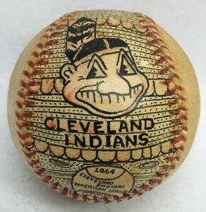 GEORGE SOSNAK 1964 CLEVELAND INDIANS 380 SLUGGING AVG HAND PAINTED BASEBALL