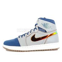 Nike Air Jordan 1 Retro High Nouveau [819176-009] Basketball Wolf Grey/Gold-Blue