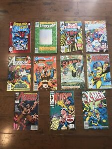 Assorted Vintage DC/Marvel Comic Books-Lot Of 11-Spider-Man, Superman, Wild CATS