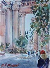 "Palace Of Fine Arts,  San Francisco Original Watercolor Painting 7.1/2"" X 5.1/2"""