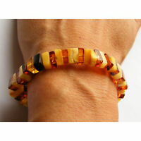 Armband, Bernstein, MULTICOLOR, poliert, Beads Amber Bracelet NEU