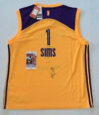 Odyssey Sims signed LA Los Angeles Sparks jersey autographed Exact Proof JSA