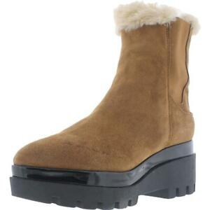 DKNY Womens Bax Suede Faux Fur Slip on Chelsea Boots Shoes BHFO 6321