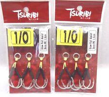 2pack Tsuribi Double Jigging Vertical Jig Hooks Assist Slow Fall Size 1/0 1.5cm