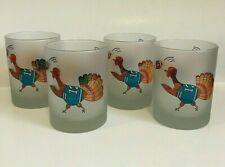 Culver Football Turkey Double Old Fashioned Glasses Set of 4