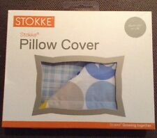 New STOKKE Sleepi Pillow Cover Silhouette White And Blue 35x40cm RRP $10