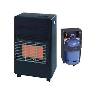 4.2KW PORTABLE GAS CABINET HEATER WITH REGULATOR FIRE HEAT CALOR BUTANE