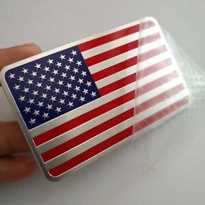 3D Decal Metal Emblem Badge Car Front Side Logo Sticker for USA American Flag