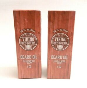 2 Beard Oil Conditioner All Natural Sandalwood Scent with Organic Argan & Jojoba