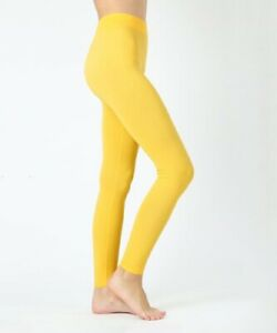 YELLOW Womens High Waisted Legging Viscose Full Length Plus Sizes S to 6XL £2.99