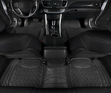 Car Floor Mats Black All Weather 3d Rubber 3 Pc For Car Truck Suv Fits 2012 Toyota Corolla