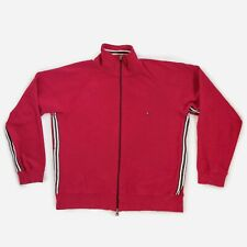 Tommy Hilfiger Full Zip Jacket Jumper Sweatshirt Sweater Stripe Tape Red Men's M