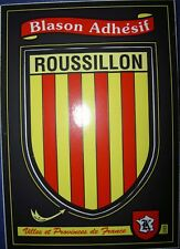 carte Kroma 233 adhésif ROUSSILLON sticker héraldique blason wappen Catalogne 66