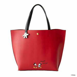 Mickey mouse Leather Bag Disney Women Handbag Large Capacity Shoulder Tote Bag