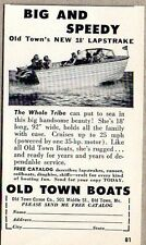 1958 Print Ad Old Town New 18' Lapstrake Boats Old Town,Maine