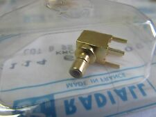 2 Stück - SMB Einbau-Buchse (Jack) 50Ω - 90° PCB - Radiall - R114665000