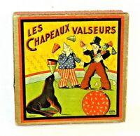 Les Chapeaux Valseurs Vintage Flying Hats / Hopla! Type Board Game Circa 1910