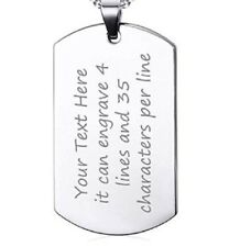 Aluminum Plain Dog Tag Engraved Personalized Pet ID for Dog & Cat.