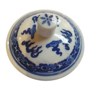 Replacement Blue and White Lid for Chinese Tea Mug GC004