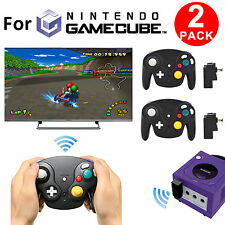 2 Packs 2.4G Wireless Game Controller Receiver Console for Nintendo GameCube NGC