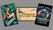 NEW YORK JETS Official NFL 3-POSTER Combo Set - Sam Darnold, Classic Titans, +