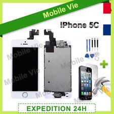 ECRAN IPHONE 5C BLANC COMPLET VITRE TACTILE + LCD RETINA SUR CHASSIS + FILM
