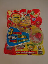 Freaky Flickers Red 3 Hidden Stickers Checklist Interactive Toy Factory Sealed