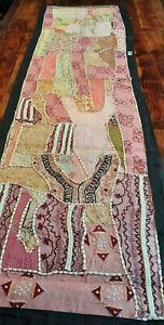 Khambadi Läufer Indianart bestickt Wandteppich Paul Klee 190x55 rosa 2 1100123