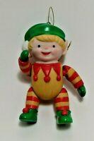 Little Elf - Vintage Santa & Friends Action Ornaments - Avon Gift Collection