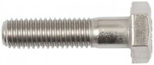 x10 3/8 BSW x 1.1/4 Hexagon Head Bolt A4 316 Stainless Steel WHIT WHITWORTH