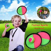 Fashion Sports Sticky Racket, Ball Game With Disc Paddle, Pink And Green TY