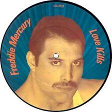 """EX! Freddie MERCURY Love Kills 7"""" Vinile Picture Disc Queen"""