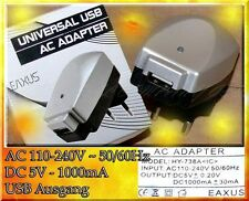 USB Netzteil Mobile Handy iPod iPhone iPad Lade gerät kabel Stecker 5V 1000mA K2