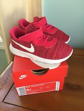 Nib Nike Tanjun Size 8 Toddler Girls Shoes Rush Pink White Red Crush