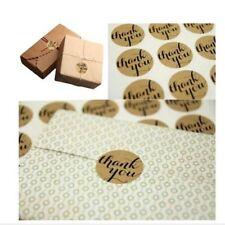 """108pcs Round """"Thank You"""" Craft Packaging Seals Kraft Sealing Sticker Label Paper"""