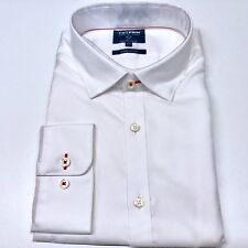 Mens White Shirt XL T.M.Lewin Supima Cotton Business Casual Button Cuff
