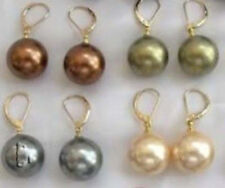 Beautiful authentic 4Pairs 10mm Shell Pearl Earring JE239